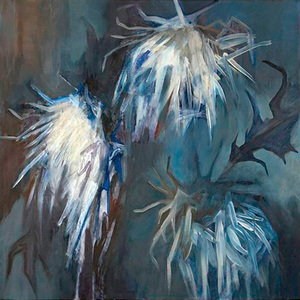 Thistles in Winter Oil on canvas, 35cm x 35cm